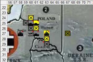 The situation after the German move on 1st September.
