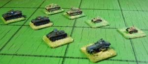 Representative Polish and German armoured vehicles for the 1939 campaign.  Not all are included in my first battle.