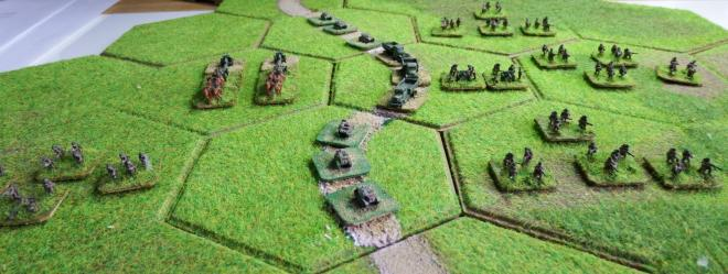 1st Polish Infantry September 1st 1939.  GHQ models on Kallistra hexagon tiles.