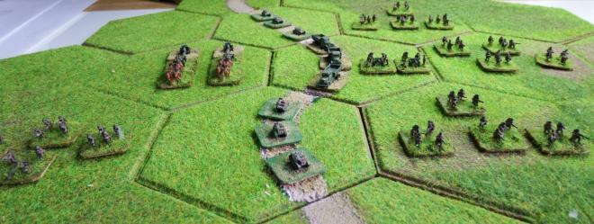 1st Polish Infantry September 1st 1939.  GHQ models on Kallistra hexagon tiles.