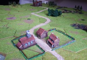 The axis of attack for the German 2nd Tank Army.  The green counters represent Polish forces not yet revealed, including some blanks.