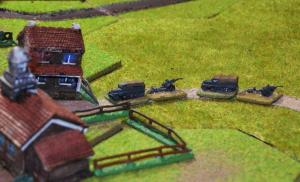 The Germans start to bring on their motorised artillery on the eastern flank...