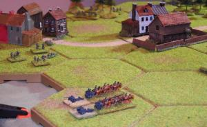 ...and horse-drawn guns on the western flank.