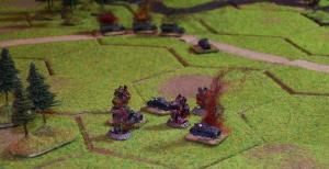 But the Poles call in off-table heavy artillery to deal with the German tanks.