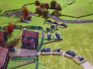 Napachanie: The Germans begin to deploy their 105mm howitzers.