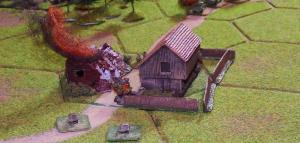 Despite casualties from the German artillery fire the Poles hold on to Mrowino, but only just.