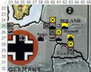 German invasion of Poland.  End of day 2nd September