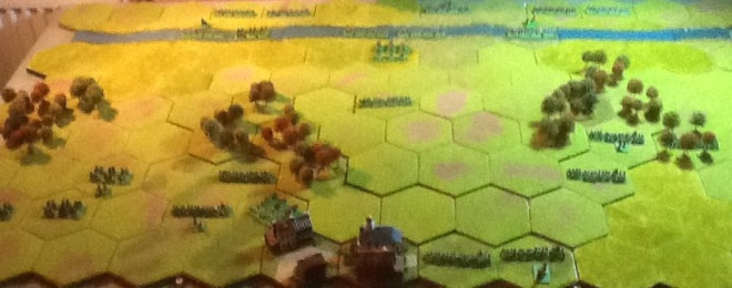 An overview of the battlefield, taken with my i-pad