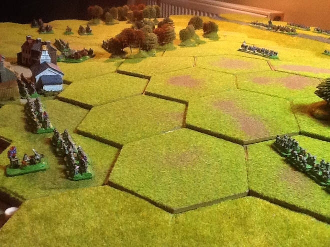 A view from the Confederate right flank.