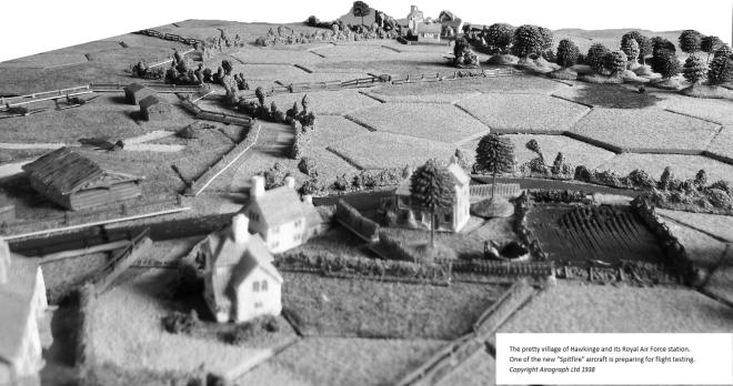 Hawkinge village and airfield 1938