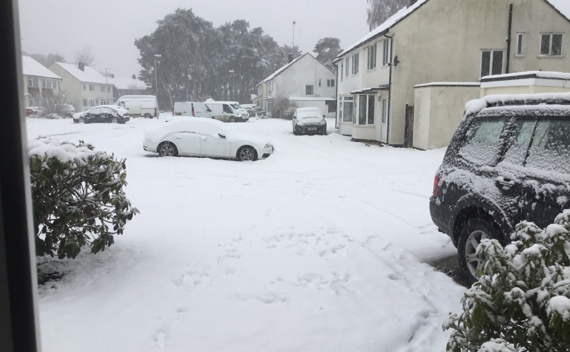 Gosh – it's snowing in England